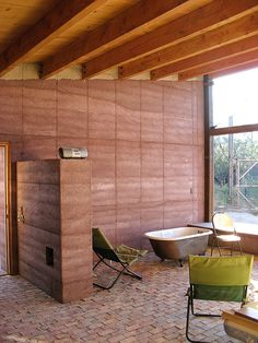Rammed Earth House - Inside Bedroom Section
