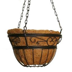 CobraCo 12 in. Scroll Braided Basket-HPI14-BZ - The Home Depot