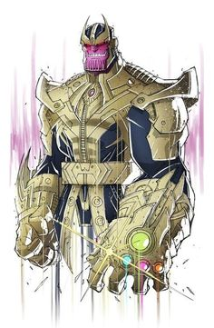 Thanos was subject to the Deviant gene at birth. As a result, Thanos became like that of a 'mutant' of Titan (the sixth moon of Saturn) where he developed a purple, hide-like skin which allowed him to absorb cosmic energy at an atomic level, then manipulate it into kinetic force by conscious choice. Along with strength and other physical abilities making him the most powerful Titan. The mutation also augmented the powers he possessed as a descendant of the Eternals.