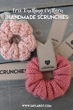 Free Knit & Crochet Scrunchies Patterns - Savlabot - Free Knit & Crochet Scrunchies Patterns – Savlabot - knitting for beginners knitting ideas knitting patterns knitting projects knitting sweater Sweater Knitting Patterns, Knitting Stitches, Knitting Yarn, Free Knitting, Free Crochet, Knit Crochet, Easy Knitting Ideas, Knitting Tutorials, Tricot Facile