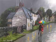 PETE RUMNEY FINE ART BUY ORIGINAL PAINTING CANVAS WALL PICTURE QUAINT COUPLE  in Art, Direct from the Artist, Paintings | eBay!