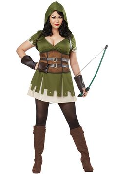Everyone's heard the story of Robin Hood. He was a skilled archer who stole from the rich to give to the poor. But who knew that he could also be this good looking. Transform into a sexy version of the famous folklore hero with this Lady Robin Hood c