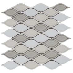 Gray Blend Tear Drop Porcelain Mosaic - 12 1/2in. x 12 1/2in. - 100236256 | Floor and Decor