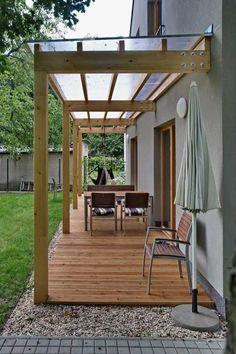 The Best 2019 Interior Design Trends - Interior Design Ideas Outdoor Pergola, Backyard Pergola, Outdoor Rooms, Backyard Landscaping, Outdoor Living, Modern Pergola, Backyard Covered Patios, Landscaping Ideas, Backyard Shade