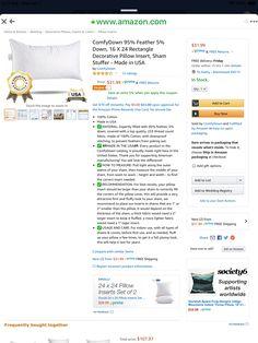 Pillow Inserts, Decorative Pillows, Cover, Decorative Throw Pillows, Decorative Bed Pillows, Throw Pillows, Decor Pillows