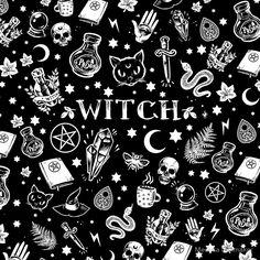 Witch Pattern Sticker By Medusa Dollmaker In 2019 Stickers