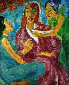 Emil Nolde - Christus in Bethanien (Christ in Bethany) (1910)