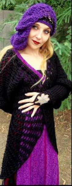 Stevie Nicks Raven Wings Spiderweb Mandala Tunic Vest and | Etsy Crochet Fall, Knit Crochet, Hippie Gypsy, Hippy, Spider Queen, Raven Wings, Pirate Wench, Tunic Pattern, Crochet Jacket