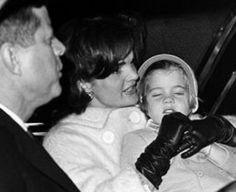 President John F. Kennedy, Jacqueline and Caroline