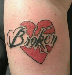 The 40 Best Broken Heart With Wings Tattoo Images On Pinterest