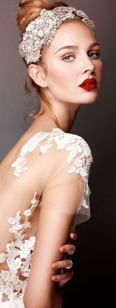 Rosamaria G Frangini | Here Comes The Bride | Wedding Wishes | Chanel Bridal headpiece