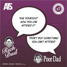 Rich Dad - Poor Dad Series : #7- One lets you off the hook, the other question makes you think. Ask questions, exercise your brain when it comes to money.
