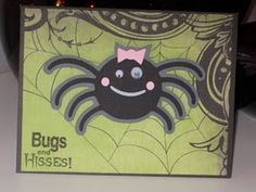 Bugs and Hisses spider card