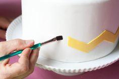How to make a chevron cake