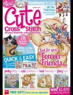 Cute Cross Stitch: An exclusive magazine fofuletes graphics!