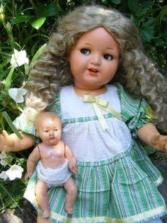 Antique 1930s Franz Schmidt Germany Doll Flirt Eyes Co 410 with 2 Dresses   eBay