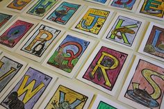 Alphabet Print Series A to Z Hand Printed by monsterinthecloset, $130.00