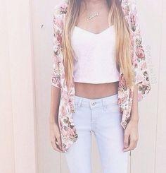 Indie floral spring fashion.