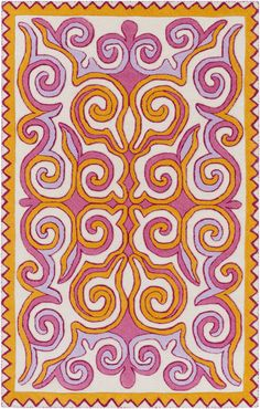 Surya TUL4007 Tulemola Pink, Orange Rectangle Area Rug