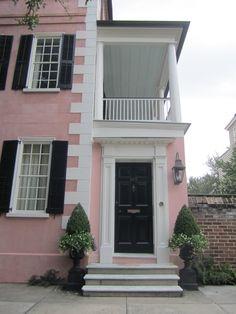 Preppy Southern Charm, Doorways, Charleston Style