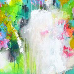 Original abstract painting modern art acrylic by ARTbyKirsten, $129.00