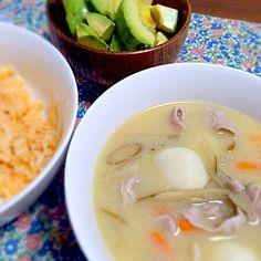 豚児とアボカドと鮭ごはん♪ - 7件のもぐもぐ - 豚汁 by niconicoyun