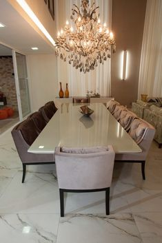 Luxury Dining Tables, Luxury Dining Room, Dining Table Design, Dining Rooms, House Rooms, Home Interior Design, Living Room Decor, House Design, Home Decor