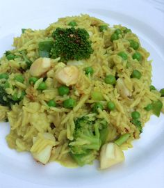 Vegetable curry, scallops and rice - Thermomix Canada