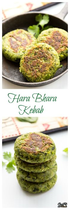 Bhara Kebab Kebabs made with Spinach, Green Peas and Potato. Full of greens, delicious &Kebabs made with Spinach, Green Peas and Potato. Full of greens, delicious & Indian Appetizers, Indian Snacks, Appetizer Recipes, Veg Recipes, Indian Food Recipes, Cooking Recipes, Healthy Recipes, Cooking Tips, Spinach Recipes