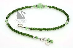 Crystal Green Lucky Charms Shamrock Anklet (A113) by Crystal Allure