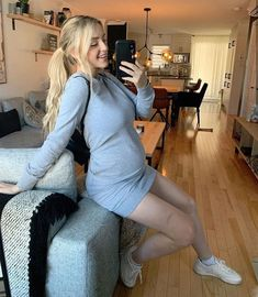 Alicia Moffet Pregnant Sweaters, Instagram, Dresses, Girls, Fashion, Hair, Vestidos, Little Girls, Moda