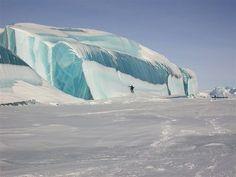 Frozen tsunami wave in Antarctica!