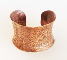 Copper Cuff Bracelet Rustic Natural Handmade by SeventhWillow, $55.00