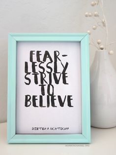 Doubt not, but be believing! #faith