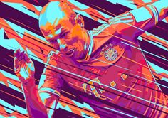 Arjen Robben // football art // by Mink Couteaux
