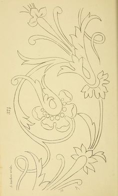 1880 - Briggs & Co.'s patent transferring papers : patented for the USA by… Floral Embroidery Patterns, Ribbon Embroidery, Embroidery Stitches, Embroidery Designs, Fond Design, Ornament Drawing, Wood Carving Patterns, Motif Floral, Art Plastique