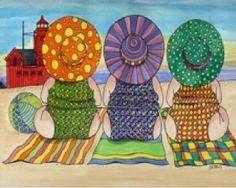 Girls at the Beach by Carolyn Stitch