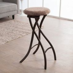 Meco Innobella Destiny 29 in. Backless Folding Bar Stool in Brownstone - 2 Pack