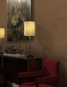 Blaine - handcrafted #wallcovering, available in 5 neutral colors.