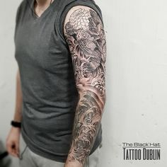 This one goes directly into my top 10 full sleeve Japanese tattoo I have ever seen! Japanese Tattoo Art, Japanese Sleeve Tattoos, Life Tattoos, New Tattoos, New Tattoo Styles, Tattoo Dublin, Tattoo Master, S Tattoo, Tattoo Artists