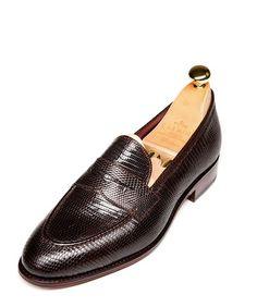 Мокасини от кожа на алигатор/ Alligator loafers