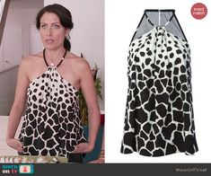 Abby's giraffe print halter top on Girlfriends Guide to Divorce.  Outfit Details: http://wornontv.net/43788/ #GG2D