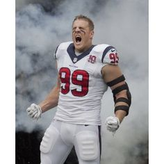 NFL Houston Texans J.J. Watt Photo in the Smoke