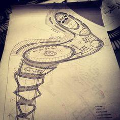Architectural plan 'spine'
