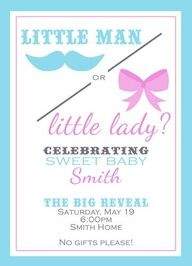 baby reveal party ideas - cute!