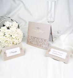 Svatební oznámení s krajkou - G2045 : svatební oznámení