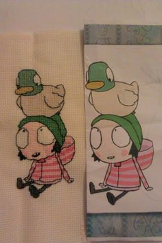 Sarah and Duck Cross Stitch