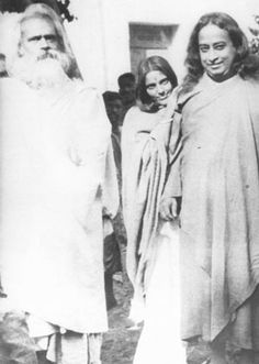 Anandamayi Ma and Bholanath with Paramhansa Yogananda in Calcutta by mandgu, via Flickr