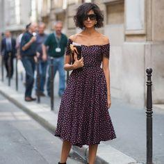 Parisian / off the shoulders style