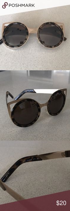"""Quay cat eye sunnies! Quay """"Let's Dance"""" sunnies. Reflective. Super cute and chic. Going through closet, taking offers and bundles:) Quay Australia Accessories Sunglasses"""